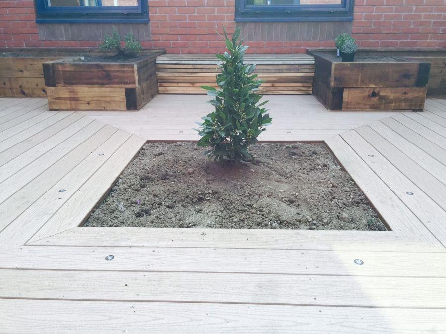 Courtyard Garden, Composite Decking