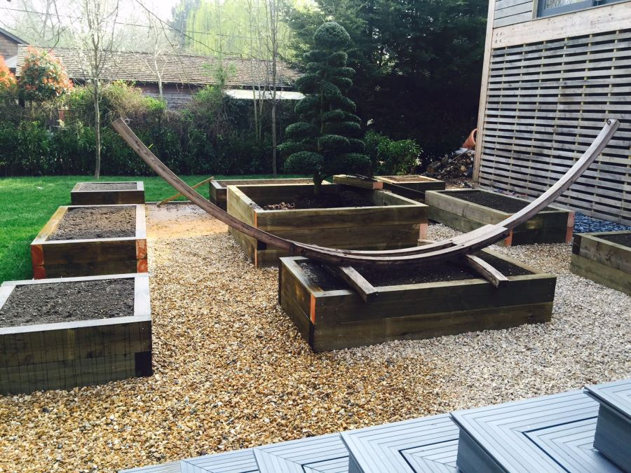 Sleeper Built Raised Beds
